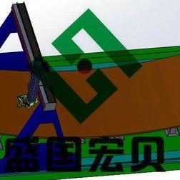 盛国宏贝曲面钢板双曲面切割机器人,曲面钢板切割机器人