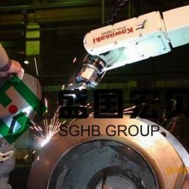 盛国宏贝风机叶轮机器人弧焊工作站,叶轮机器人焊接