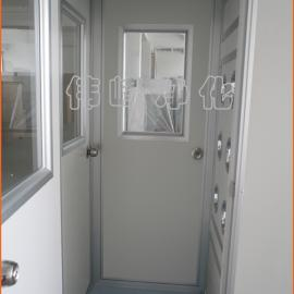 风淋门单人单吹 彩钢板风淋室FLS-1A(三门)单人风淋室