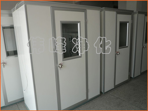 彩钢板风淋室单人双吹 自动吹淋FLS-1C 彩钢板风淋房