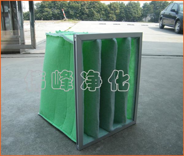 铝合金框初中效过滤器592*295*500*3袋F5过滤袋