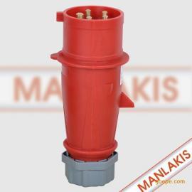 上曼电气 工业防水插头 248 5p 5芯 插座 pz