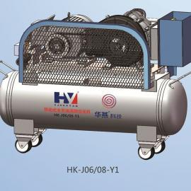 0.6立方 移动式空气压缩机食品级通气管件 纯无油 涡旋式