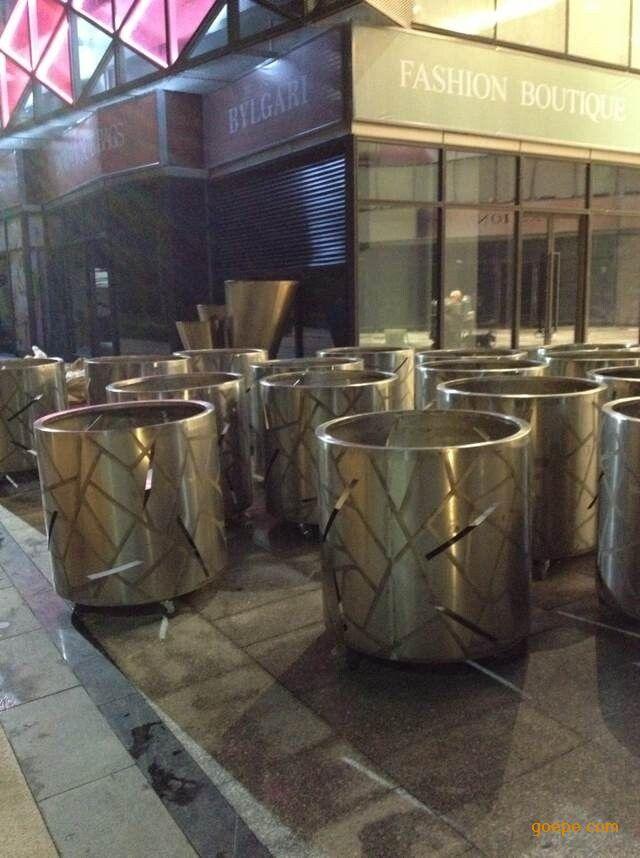 大型不锈钢花盆,花钵