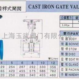 FS051铸铁暗杆闸阀-台湾富山FS阀门