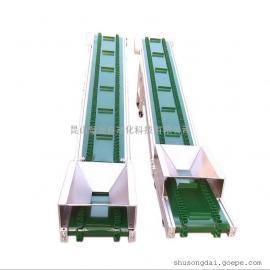 璧发厂家直销爬坡输送机运输带 皮带线注塑机流水线皮带输送机