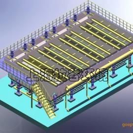 上海拉谷 500m3/h大型斜管沉淀器