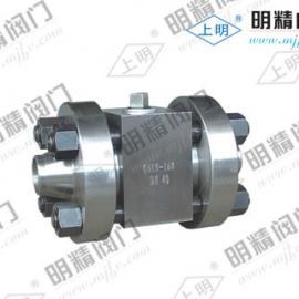 上明牌Q61N-320高压锻钢焊接球阀