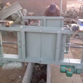 福州500X500手动插板阀DN500槽钢焊接中海现货