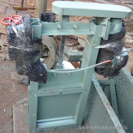 肇庆400X400气动、电动插板阀槽钢焊接DN400中海