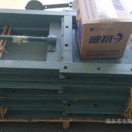 东莞中海200X200气动插板阀槽钢焊接DN200