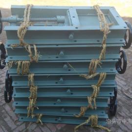 银川200X200槽钢焊接电动插板阀DN200卸灰插板阀