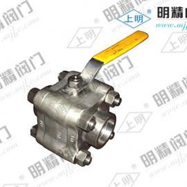 高压型三片式锻钢螺纹球阀Q11N-800LB