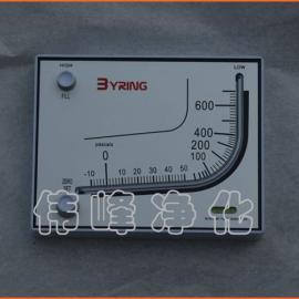方形压差计 0~600压差表 国产压差表 净化压差表
