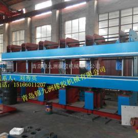 青岛锦九洲橡胶机械供应大型150t长条鄂式接头硫化机
