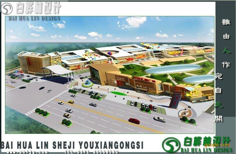 专业商业广场规划设计-河南白桦林园林景观设计工程
