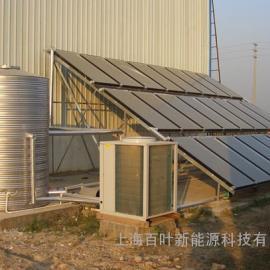 平板太阳能空气源热泵热水系统