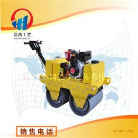 河南三门峡好用的手扶式双轮柴油压路机 小型光轮压路机参数