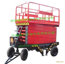 东营地区室外高空作业可移动式升高12米液压升降平台