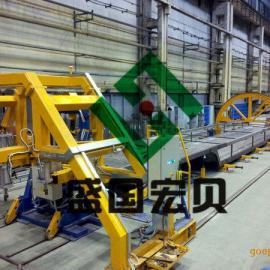 半挂车组对焊接生产线,盛国宏贝半挂车组对焊接生产线
