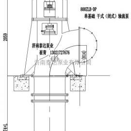 800ZLDB-50单基础立式轴流泵