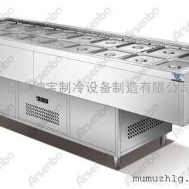 供应牛太郎自助餐厅冷柜设备/烤的住烧烤店/三文治冷柜