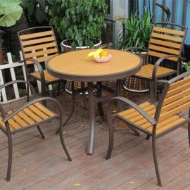 环保木桌椅胶木桌椅塑木桌椅