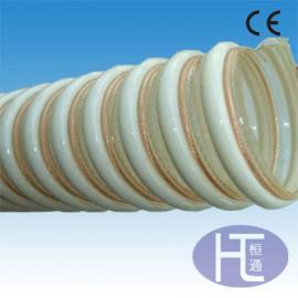 PU塑筋增强软管 抛丸机吸尘管 塑筋螺旋管