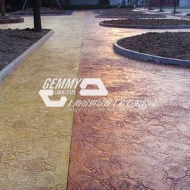 烟台水泥压印地坪|莱州广场砖压模地坪|蓬莱景观艺术压花地坪