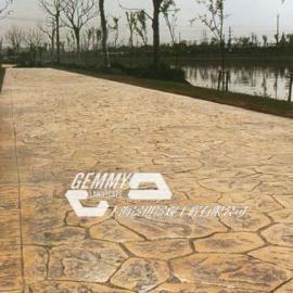 东营彩色压模地坪|广饶水泥压花地坪材料|利津仿石压印地坪