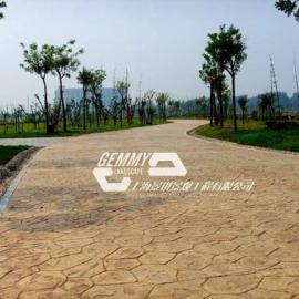 上海彩色水泥地坪厂家 黄浦混凝土压花路面 卢湾街道透水地坪