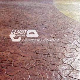 喀什彩色透水混凝土路面 伽师水泥压印地坪施工材料模具价格