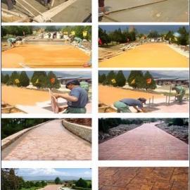 宜春园林艺术压花地坪|靖安水泥压模地坪|丰城鹅卵石压印地坪