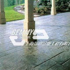 南充彩色混凝土艺术地坪 西充水泥压花地坪 仪陇仿石压模地坪