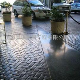 杭州园林景观地坪|建德彩色水泥压模地坪|富阳艺术压花地坪