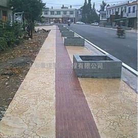 杭州压花地面铺装材料|下城压模混凝土|江干鹅卵石压印地坪