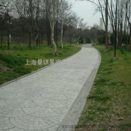 四平混凝土木纹压模地坪 铁西彩色压花路面 公主岭艺术地坪