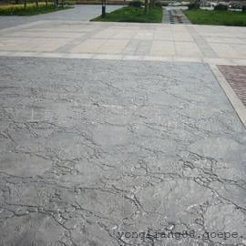 二道仿石地面铺装材料|绿园混凝土压模地坪|长春仿木地面材料