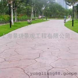 阿里仿石压模地坪 措勤压花水泥地坪 改则道路铺装彩色地坪