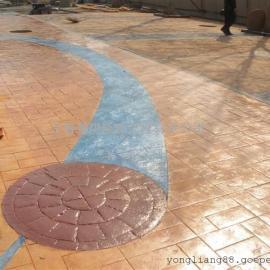 昌吉人行道压模地坪|吉木萨尔彩色混凝土|玛纳斯仿石压印路面