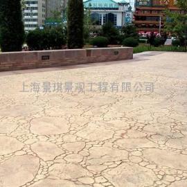 盐城水泥仿木压花地坪|东台装饰混凝土艺术地坪|大丰压模地坪