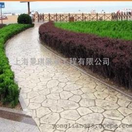 商丘压花混凝土路面|夏邑水泥压模地坪材料|梁园仿石压印地坪