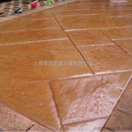 混凝土压模地坪材料/水泥压花地坪价格/艺术彩色路面