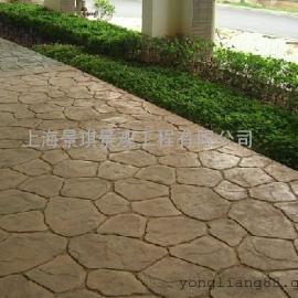 红河混凝土压花地坪 金平水泥压模地坪 元阳仿地板砖压印地坪