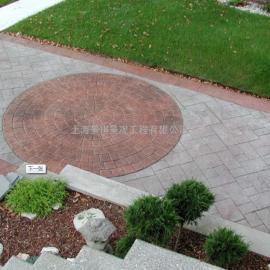南阳防滑压模地坪材料|桐柏水泥压花路面|卧龙园林景观仿石地坪