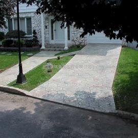彩色水泥压花地坪/仿石压模混凝土材料/艺术压印地坪