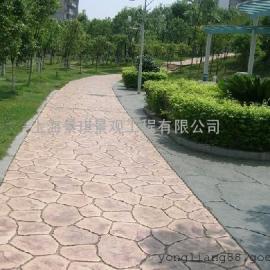 压花地坪材料价格/彩色水泥压模地坪/压印混凝土材料