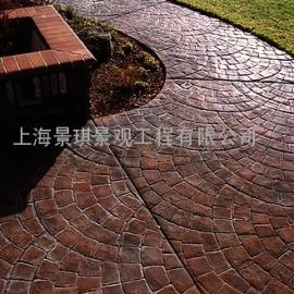 压花混凝土路面/水泥压模地坪材料/彩色艺术压印地坪