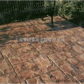 压花地坪施工模具/彩色混凝土路面材料/透水地坪价格