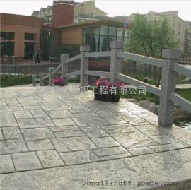 矿水泥压花地面/彩色混凝土材料/艺术压模地坪